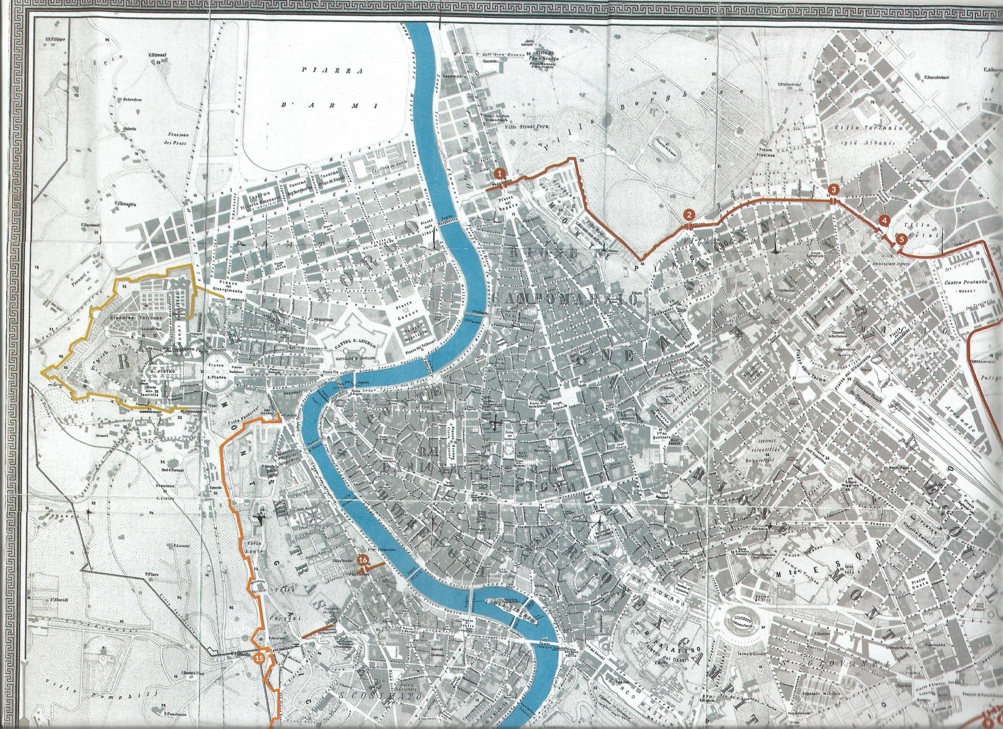 Cartina Roma Turistica.Carte Geografiche
